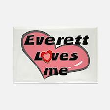 everett loves me Rectangle Magnet