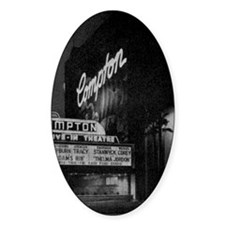 Compton Drive-In Poster Sq Decal
