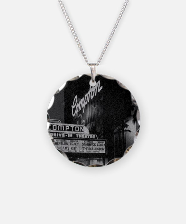 Compton Drive-In Poster Sq Necklace