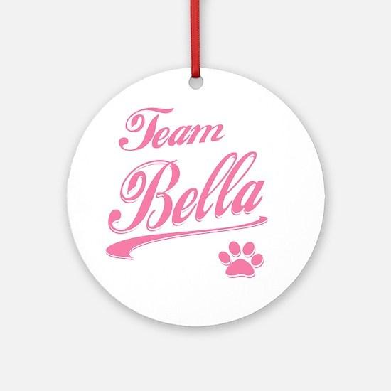 team bella Round Ornament