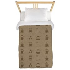 Coffee Icons Twin Duvet