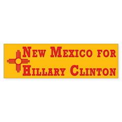 New Mexico for Hillary Clinton sticker