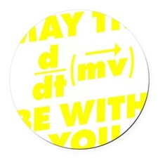 May The Force Be With You Round Car Magnet