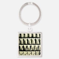 Vintage Dance Sequence  Square Keychain
