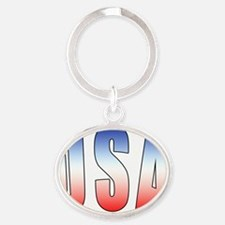 USA Oval Keychain
