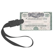 PENNSYLVANIA RR STOCK CERTIFICAT Luggage Tag