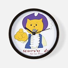 Scurvy dog Wall Clock