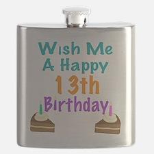 Wish me a happy13th Birthday Flask