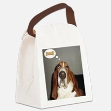 Basset thoughts Canvas Lunch Bag