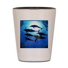 Porpoises in the Ocean with Sun Rays St Shot Glass