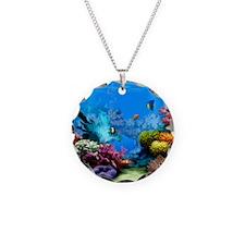 Tropical Fish Aquarium with  Necklace