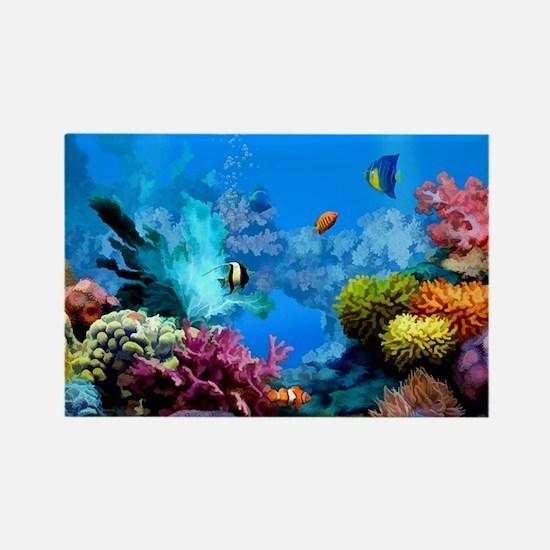 Tropical Fish Aquarium with Brigh Rectangle Magnet