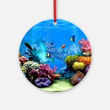Tropical Fish Aquarium with Bright  Round Ornament