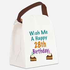 Wish me a happy 28th Birthday Canvas Lunch Bag