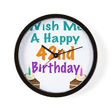 Wish me a happy 42nd Birthday Wall Clock