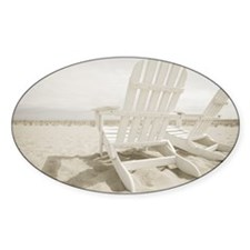 Adirondack chairs on the beach Decal