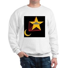Crescent and starship Sweatshirt