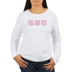 ABC's Pink Baby Blocks T-Shirt
