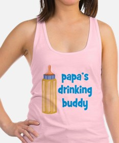 Papas Drinking Buddy Racerback Tank Top
