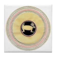 MIMBRES BEAUTIFUL RABBIT BOWL Tile Coaster