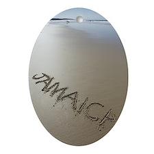 Jamaica Beach Words Oval Ornament