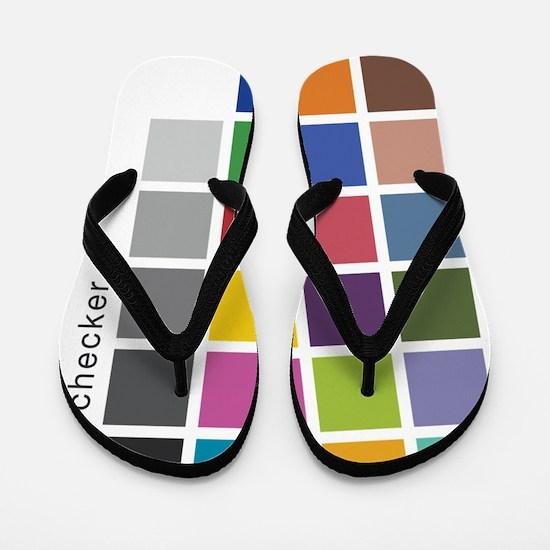 Photographers Color Checker tee Flip Flops