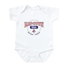 Mat-Town USA Round Logo Infant Bodysuit