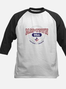 Mat-Town USA Round Logo Kids Baseball Jersey