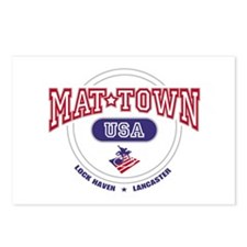 Mat-Town USA Round Logo Postcards (Package of 8)
