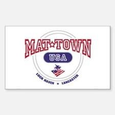Mat-Town USA Round Logo Rectangle Decal