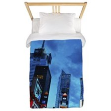 Times Square New York City at dusk Twin Duvet
