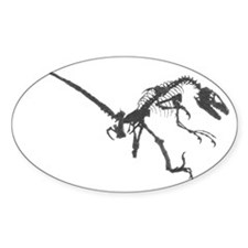Velociraptor Skeleton Decal