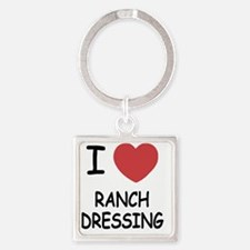 I heart ranch dressing Square Keychain