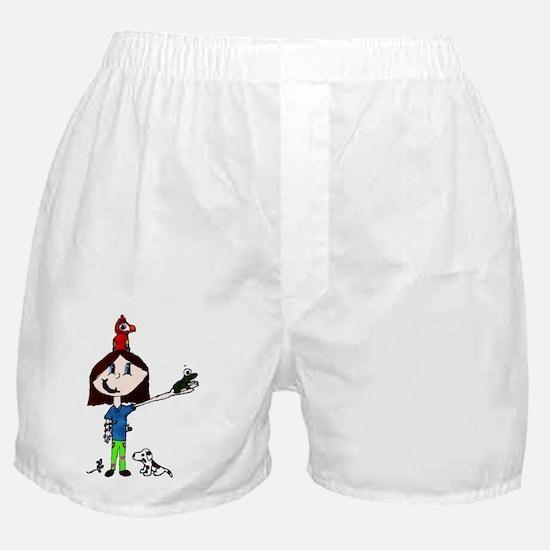 pet girl Boxer Shorts