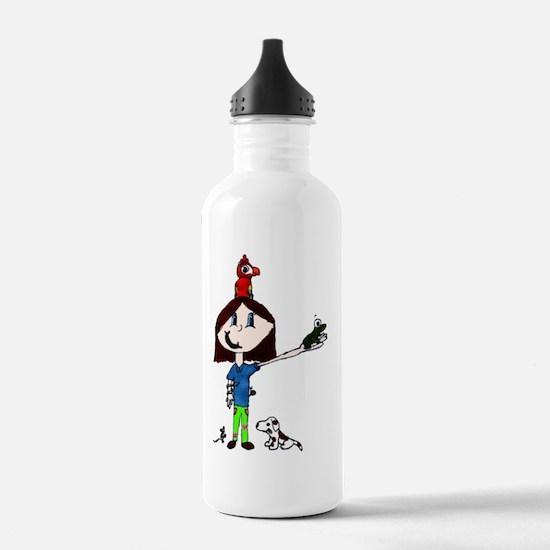 pet girl Sports Water Bottle