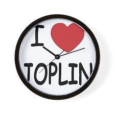 I heart joplin Wall Clock