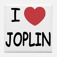I heart joplin Tile Coaster