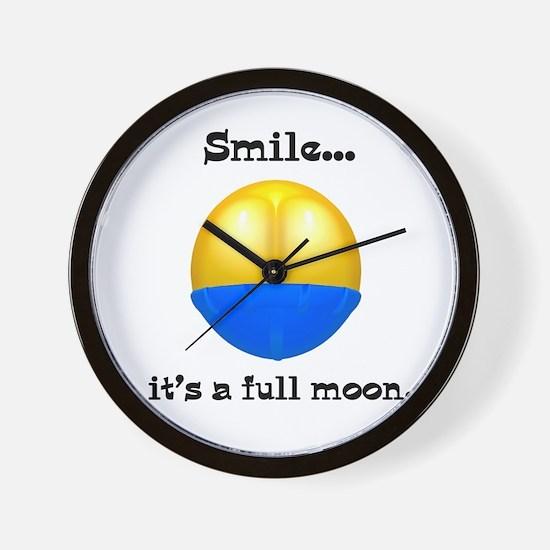 Full Moon Smile Butt Crack Wall Clock