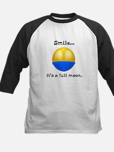 Full Moon Smile Butt Crack Kids Baseball Jersey