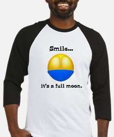 Full Moon Smile Butt Crack Baseball Jersey