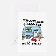 Trailer Trash with Class Greeting Cards (Package o