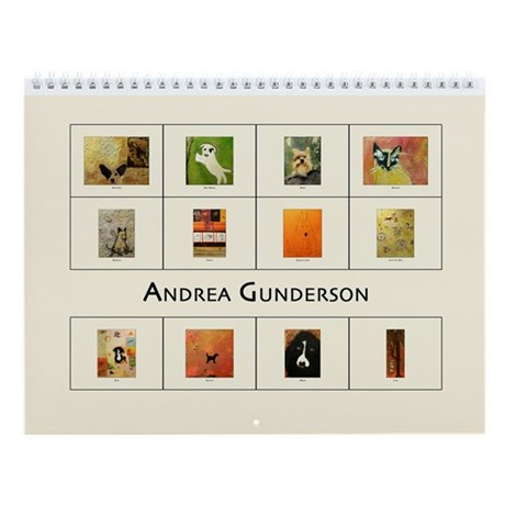 Andrea Gunderson Animals II Wall Calendar