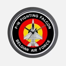 F-16 Fighting Falcon - Belgian Air Forc Wall Clock