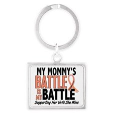 My Battle Too Mommy Uterine Can Landscape Keychain
