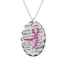 Dear Mommy - From your son Necklace Oval Charm