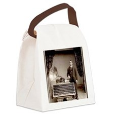 The Phonograph Canvas Lunch Bag