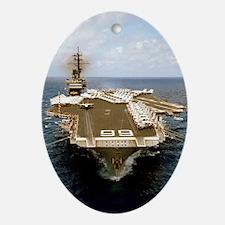 uss america cva sticker Oval Ornament