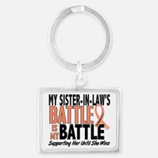 My Battle Too Sister-In-Law Ute Landscape Keychain