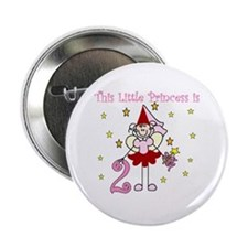 Fairy Princess 2nd Birthday Button