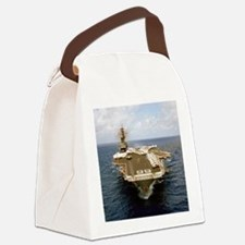uss america cv small poster Canvas Lunch Bag